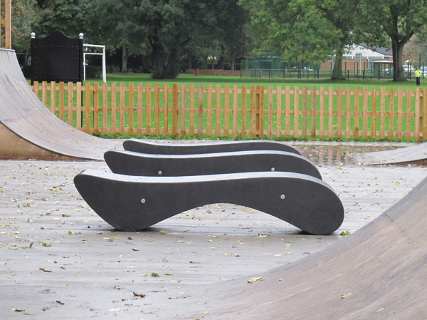 Amesbury Curved Concrete Bench Modern Design And Form