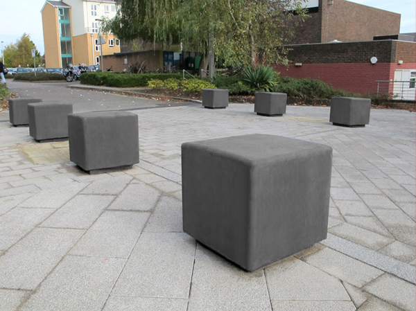 Blyth Outdoor Concrete Bench For Parks Public Sites