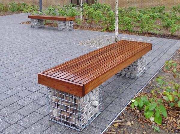 Elements Gabion Basket Bench Seat