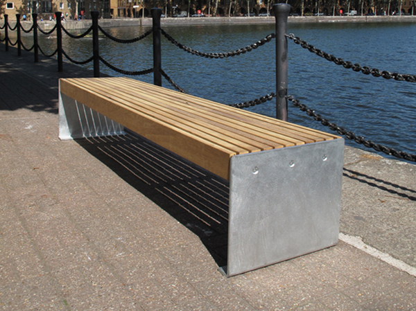 Elements Plate End Benches And Seats Timber And Steel