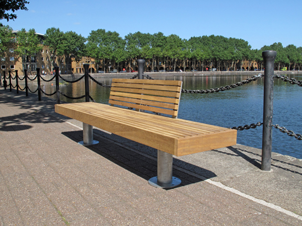 Elements Post Support Seating Bench And External Seat
