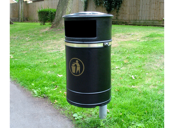 Euston Wall Or Post Mounted Plastic Litter Bin Uk