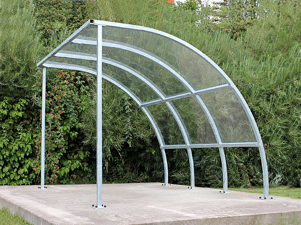 Steel Frame Shelters : Fin cycle shelter