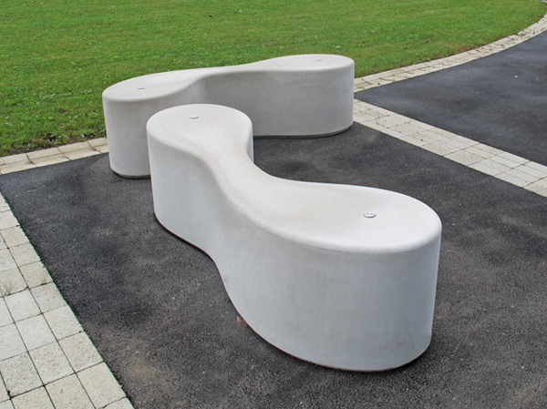 Marlborough curved concrete outdoor bench seating Curved bench seating