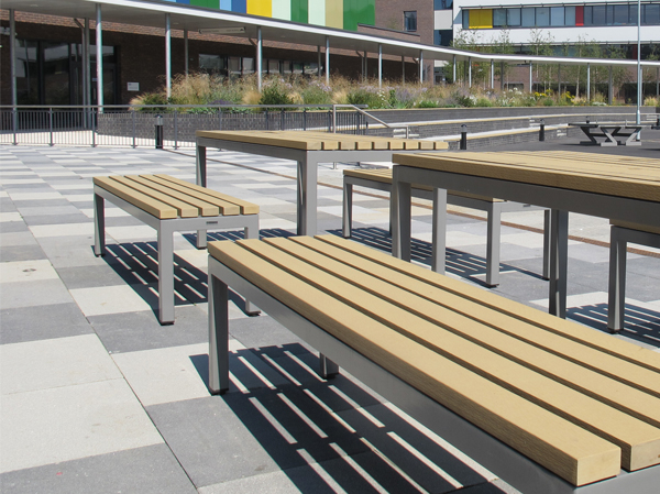 Parallel Picnic Benches Amp Tables For Outdoor Dining