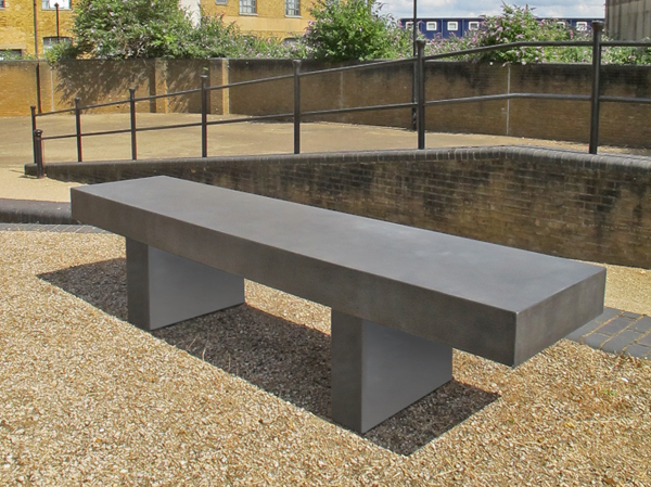 Podium concrete bench seating concrete wood bench for Cinder block seating area