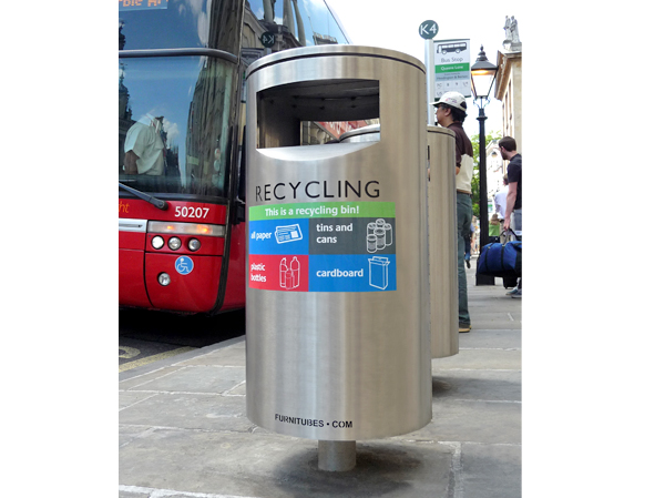 Zenith Recycling Litter Bins Public Furniture For Streets