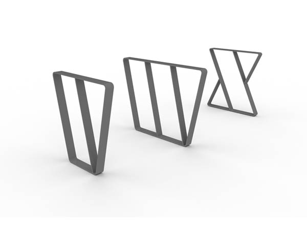 Letterform steel letter shaped cycle stands letterform cycle stands v w x altavistaventures Image collections