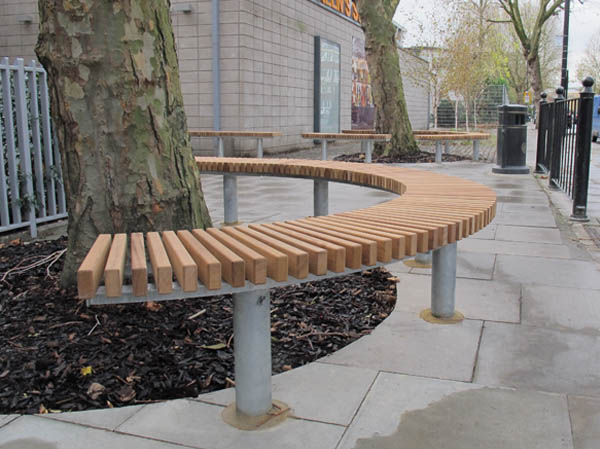 Stirling Bench Seat Contemporary Design Outdoor Seating