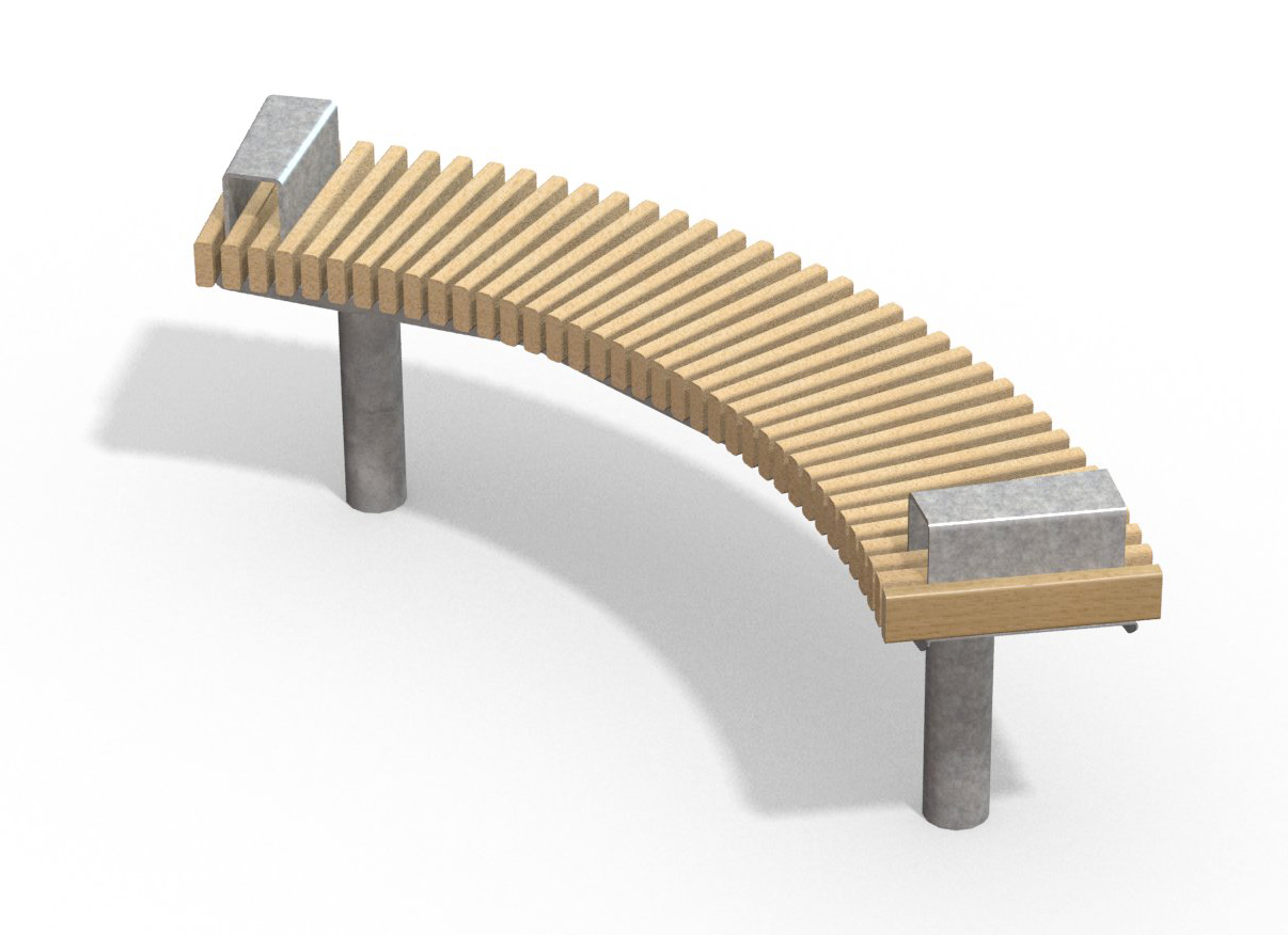 Street furniture public furniture outdoor furniture iso9001 Curved bench seating