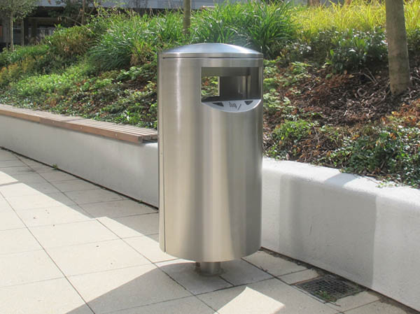 Zenith Steel Or Stainless Litter Bin For External Waste