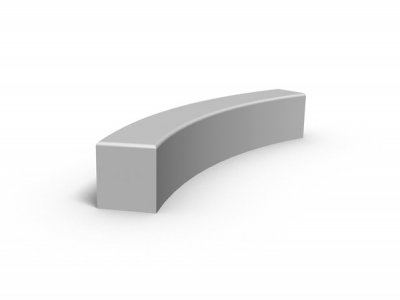 Core Curved Modular Concrete Bench Seating Wall